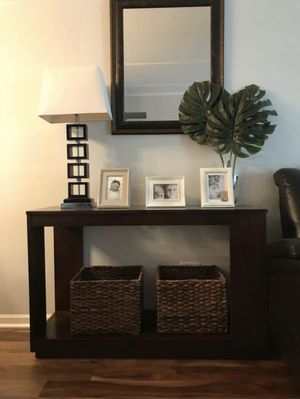 Console Table with Glass for Sale in Woodridge, IL