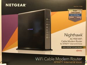 Netgear Nighthawk AC1900 Cable Modem Router for Sale in Troy, MI