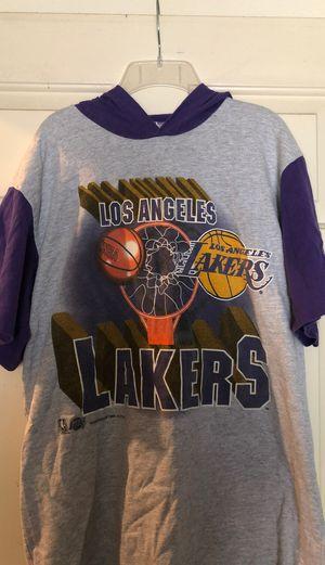 Vintage lakers hoodie short sleeve for Sale in Temple City, CA