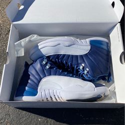 Stone Blue Jordan 12s Size 8'5 Like New Great Condition for Sale in Oklahoma City,  OK