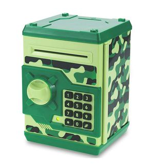 KIDS ELECTRONIC PIGGY BANK GREEN CAMOUFLAGE for Sale in Covina, CA