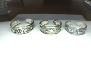 Solid silver toe rings adjustable price is for all 3! for Sale in Cumberland, RI
