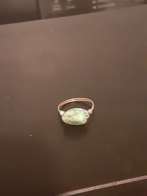 Silver jade ring size 7 for Sale in Southbridge, MA