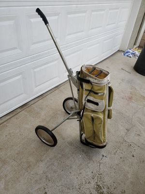 Classic vintage golf bag on rollers for Sale in San Dimas, CA