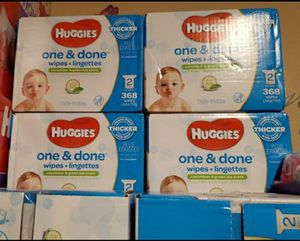 Huggies baby wipes $10 each box or trade for 1 enfamil can each box no samples no open or expired can for Sale in Perris, CA