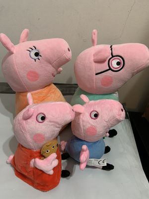 4 Peppa Pig Family and 8 Friends Plush Set High Quality for Sale in Temple City, CA