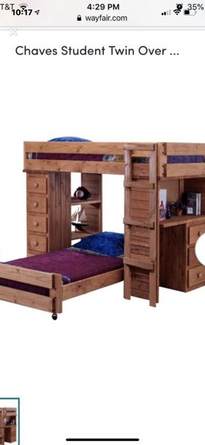 Solid pine wood twin bunk bed set for Sale in Hammond, IN