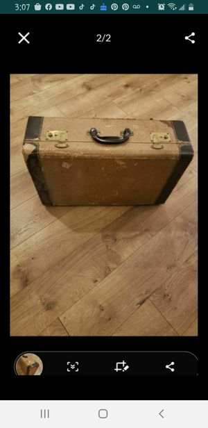 Old vintage trunk case opens brown colors for Sale in Los Angeles, CA