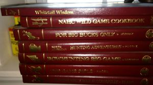 7 hard copy books on hunting and cooking wild life for Sale in New Windsor, MD