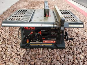Craftsman Table Saw 10in 2.5 HP for Sale in North Las Vegas, NV