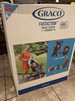 Graco FastAction Fold Travel System | Includes FastAction Fold Stroller and SnugRide 30 Infant Car Seat for Sale in Centennial, CO