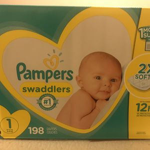 Size 1 Diapers (Pampers) for Sale in Phoenix, AZ