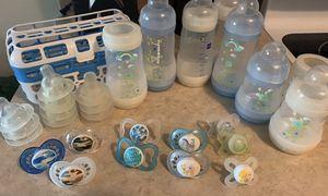 MAM bottles and binkies for Sale in Morgantown, WV