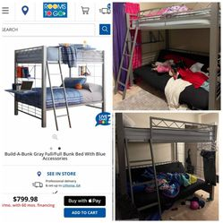 Full Over Full Bunkbed for Sale in Stone Mountain,  GA