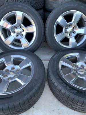 Chevy silverado tahoe suburban factory wheels for Sale in Colton, CA