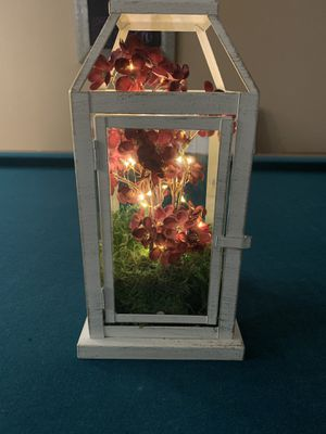 Lanterns with flowers and twinkly lights for Sale in Kenmore, WA