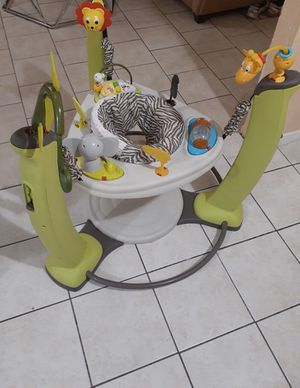 Evenflo ExerSaucer Jump & Learn Stationary Jumper, Jungle Quest for Sale in Tulsa, OK