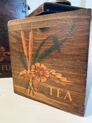 Vintage Wood Flour and Tea Nesting Boxes for Sale in North Bend, WA