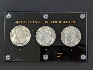 High grade Morgan silver dollar P D S set - nice coins! for Sale in Lynnwood, WA