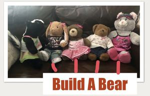 4 Build A Bear and 1 skunk for Sale in Land O Lakes, FL