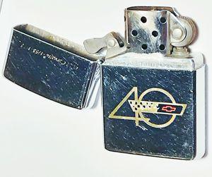 Vintage zippo metal lighter 40th anniversary of the corvette 1993 for Sale in Saginaw, MI