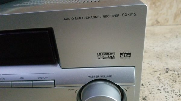 Pioneer SX-315 5.1 AV HOME THEATER RECEIVER 750W WITH REMOTE