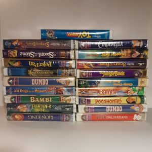 Disney VHS lot of 19 Movies - BEST OFFER! for Sale in Etiwanda, CA