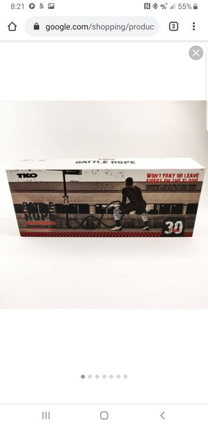 Tko battle rope for Sale in Tacoma, WA