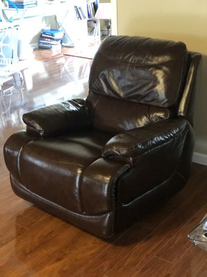 Top Grain Leather Recliner Chair for Sale in Turlock, CA