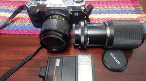 CANON AL-1 35 mm camera,Kobol 200 flash and lenses for Sale in North Riverside, IL