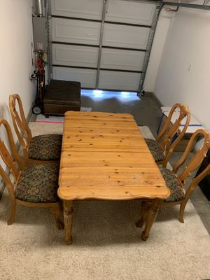 Pine Dining Table and Chairs for Sale in San Diego, CA