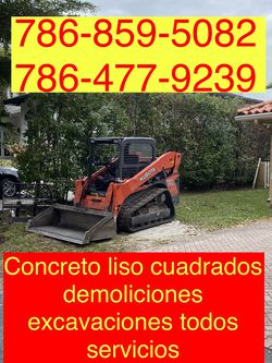 Bobcat Excavadora Mini Excavator And Volteo.)✅(((.demolition Servic,ios.)))✅✅✅ for Sale in Miami,  FL