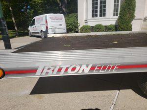 Triton aluminum trailer with title for Sale in Ontarioville, IL