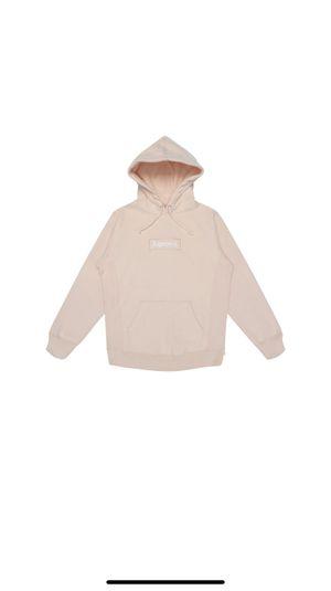 Supreme box logo peach hoodie for Sale in La Quinta, CA