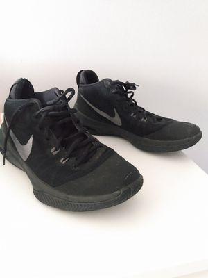 Nike mid-top black on black basketball shoes. I for Sale in Norfolk, VA