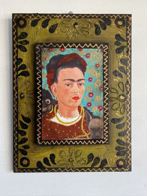 "Frida Khalo's painted on Wooden Panel 12""x16"" Hand Made in Mexico $89 This week Only for Sale in Los Angeles, CA"