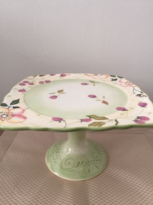 Tracy Porter Evelyn Footed Cake Plate $60 dollar value for Sale in Falls Church, VA