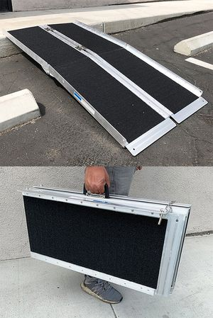 """(New in box) $115 Non-Skid 5' ft Aluminum Portable Wheelchair Scooter Mobility Folding Ramp (60x28"""") for Sale in Whittier, CA"""