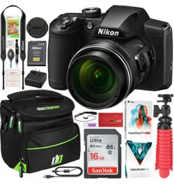 Nikon COOLPIX B600 60x Optical Zoom WiFi Digital Camera Black Bundle for Sale in Port St. Lucie,  FL