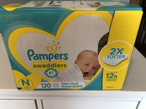 Pampers Diapers Newborn 120 for Sale in Naperville, IL