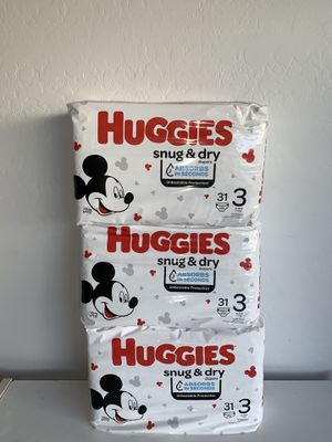 Huggies size 3 for Sale in Phoenix, AZ