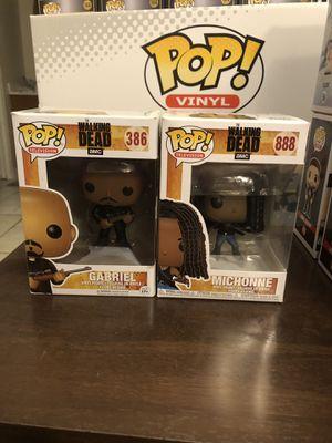 TWD Michonne #888 & Gabriel #386 Funko Pops for Sale in Apopka, FL