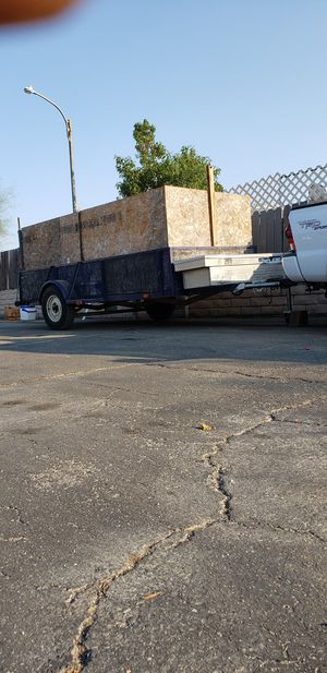 Trailer 15x6 whit tool box in great condition have the pink slip in hand for Sale in Moreno Valley, CA