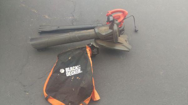 Black and decker leaf hog blower