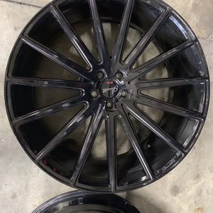 Rims 24 giovanna 5 by 112 width 10 no tires HMU if your serious about buying them for Sale in Los Nietos, CA