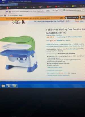 Child's Mealtime Booster Seat for Sale in Glendora, CA
