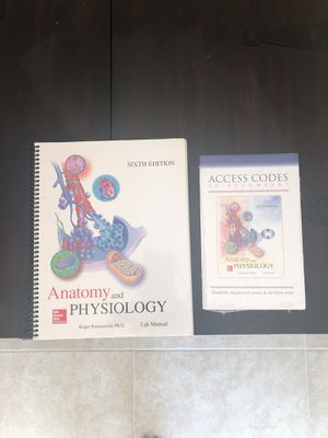 NEW never used Anatomy & Physiology sixth edition lab book & ACCESS CODE NEVER OPENED. Still with plastic wrapper. for Sale in West Palm Beach, FL