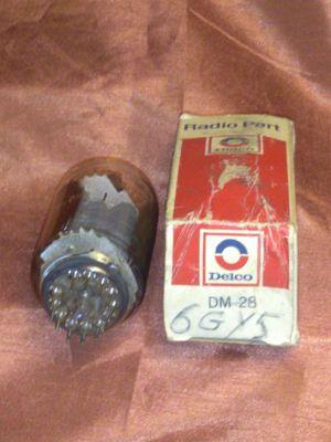 Delco 6GY5 Vacuum GlassTube Electron Radio Vintage Original Box Amplifier Power for Sale in Port Huron, MI