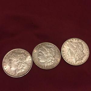 3 Morgan Silver Dollars Pre 1900 for Sale in Phoenix, AZ