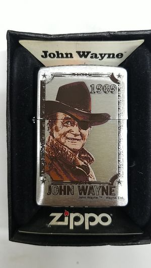 Zippo John Wayne 1969 brushed chrome 24075 for Sale in Los Angeles, CA
